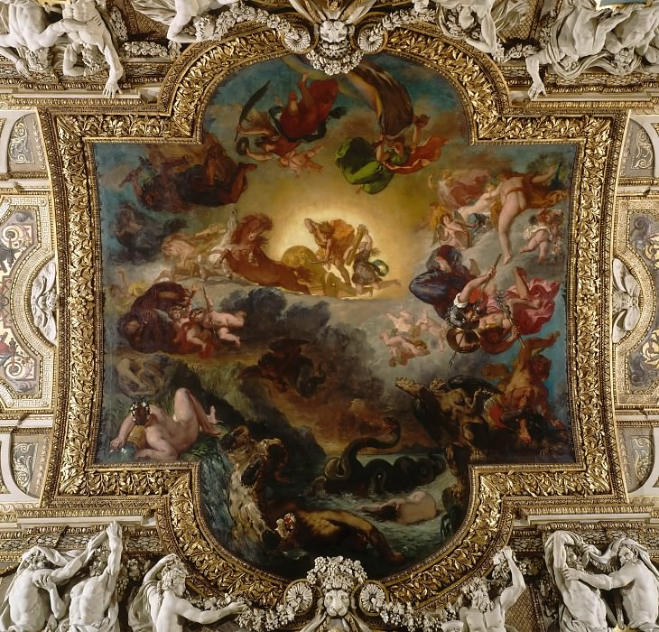 Eugène Delacroix -- Apollo vanquishing the serpent Python. Part 2 Louvre