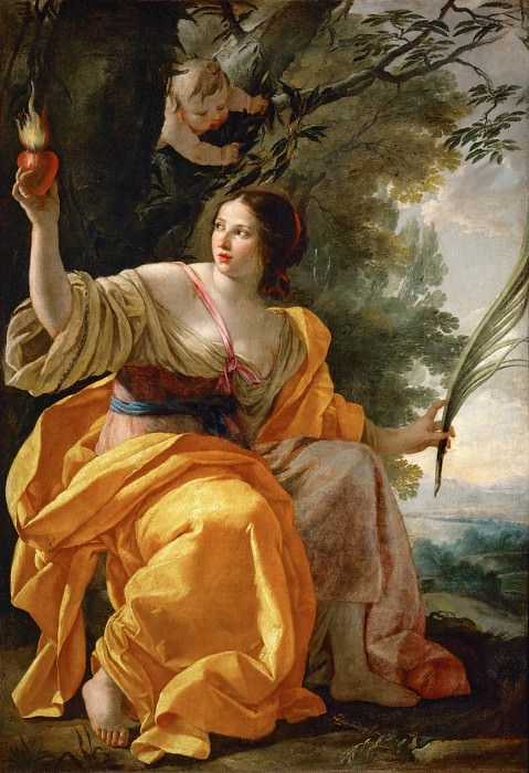 Simon Vouet -- Heavenly Charity. Part 2 Louvre