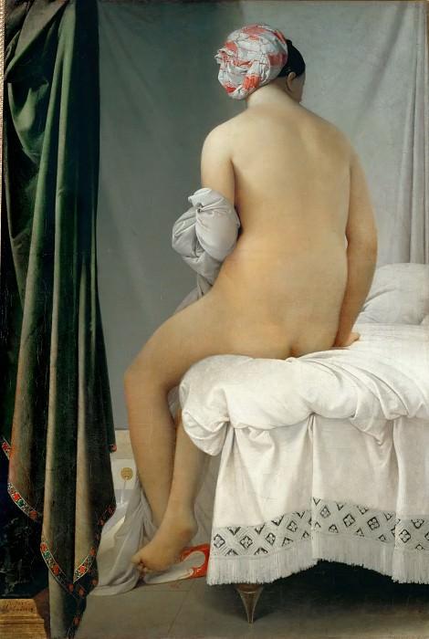 Энгр, Жан-Огюст-Доминик (1780 Монтобан - 1867 Париж) -- Купальщица Вальпинсона. часть 2 Лувр