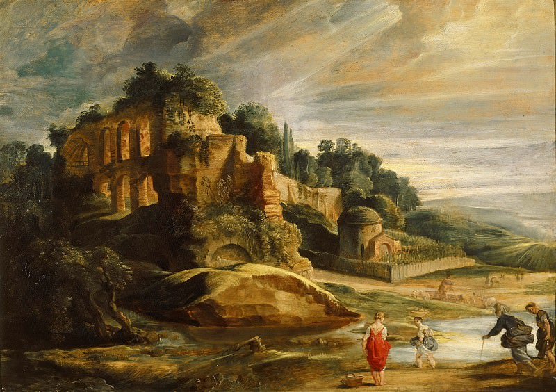 Peter Paul Rubens -- Landscape with the Ruins of the Palatine. Part 2 Louvre
