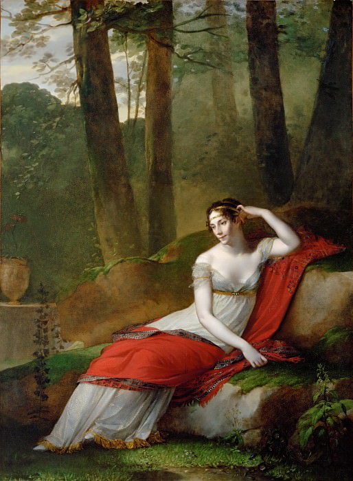 Pierre-Paul Prud'hon (1758-1823) -- Empress Josephine (1763-1814) in the Gardens of Malmaison. Part 2 Louvre