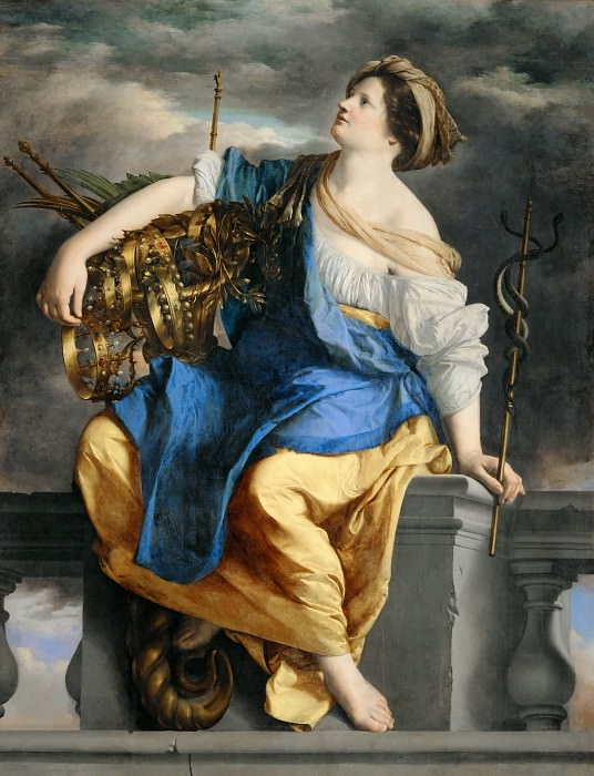 Orazio Gentileschi -- Public Happiness Triumphs Over Danger. Part 2 Louvre