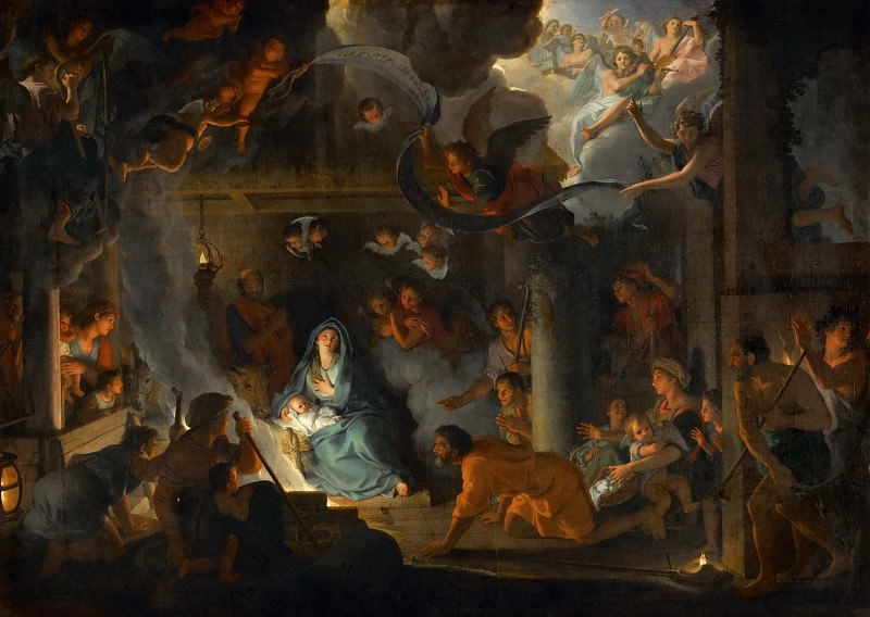 Charles Le Brun -- Adoration of the Shepherds. Part 2 Louvre