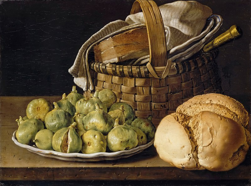 Luis Meléndez -- Still life with figs. Part 2 Louvre