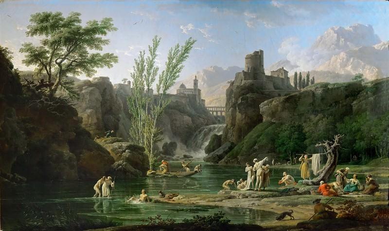Claude-Joseph Vernet -- Morning, Bathers. Part 2 Louvre