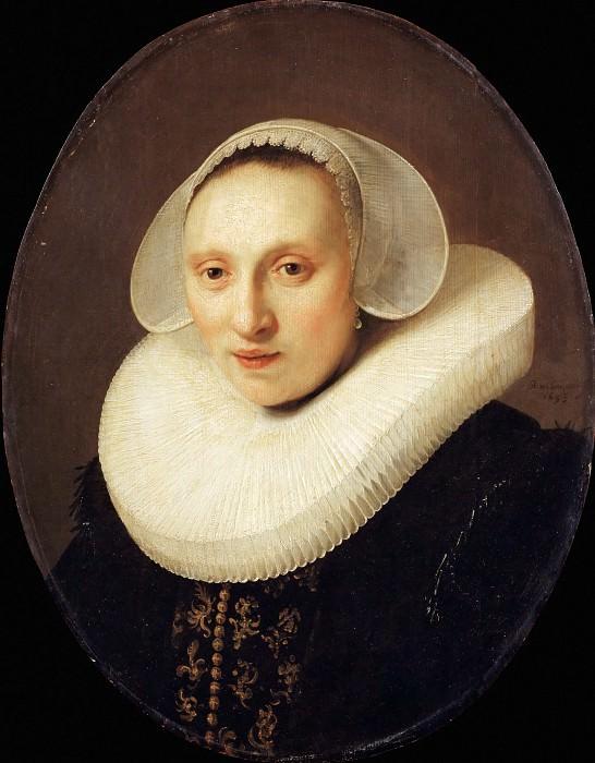 Rembrandt van Rijn -- Portrait of Cornelia Pronck. Part 2 Louvre