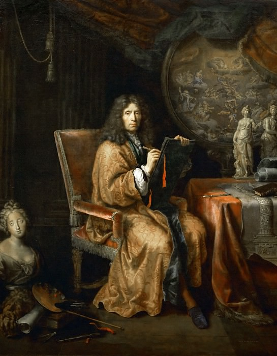 Pierre Mignard I -- Portrait of the Artist. Part 2 Louvre