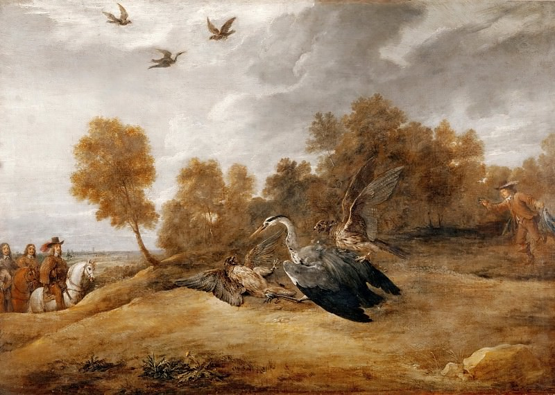 David Teniers II -- Heron Chase with the Archduke Leopold-William. Part 2 Louvre