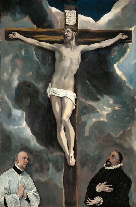 El Greco -- Crucifixion with Two Donors. Part 2 Louvre