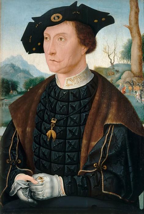 After Jan Mostaert -- Jan van Wassenaer (1483-1523), Vicomte of Leyden and Governor of Friesland. Part 2 Louvre