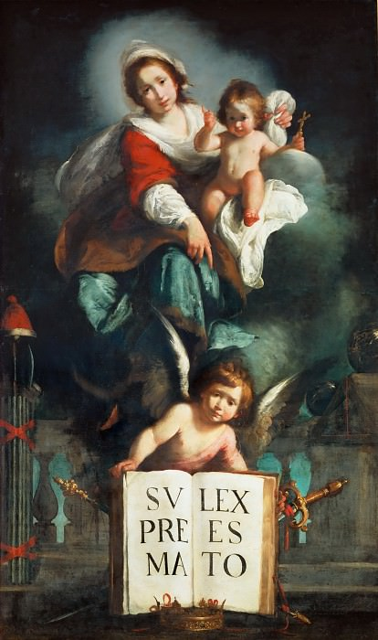 Bernardo Strozzi -- The Madonna of Justice. Part 2 Louvre