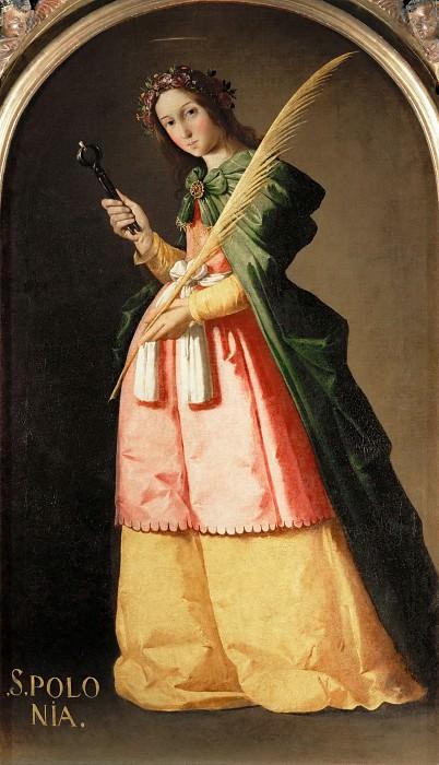 Francisco de Zurbarán -- Saint Apollonia. Part 2 Louvre