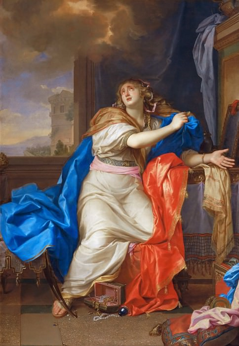 Charles Le Brun -- Saint Mary Magdalen Renounces All Pleasures of Life. Part 2 Louvre