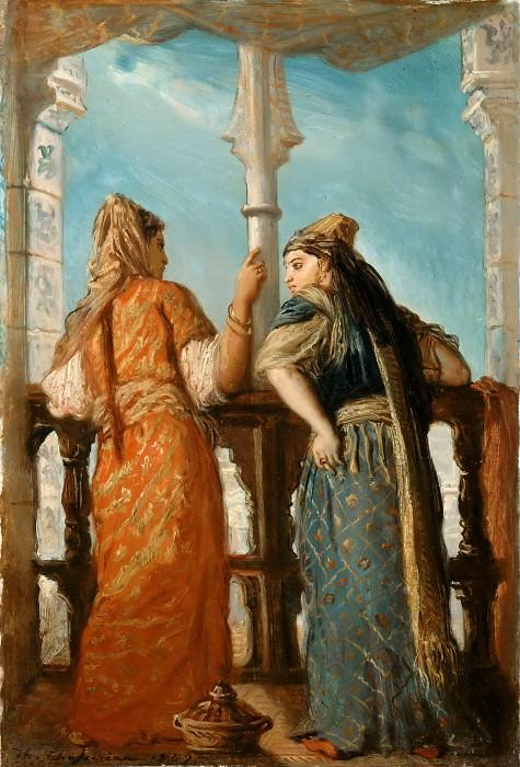 Théodore Chassériau -- Jewish Women on a Balcony, Algeria (Juives au Balcon, Alger). Part 2 Louvre