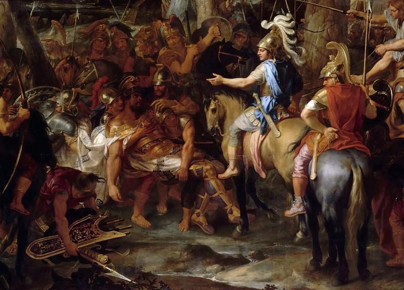 Charles Le Brun -- Defeat of Porus; detail of center. Part 2 Louvre