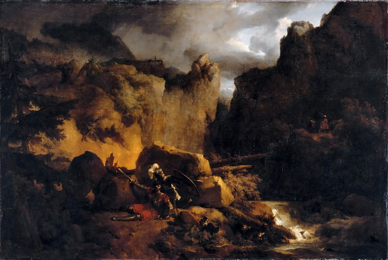 Achille Etna Michallon -- The Death of Roland. Part 2 Louvre
