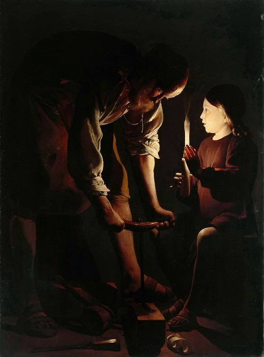Georges de La Tour -- Saint Joseph the Carpenter. Part 2 Louvre