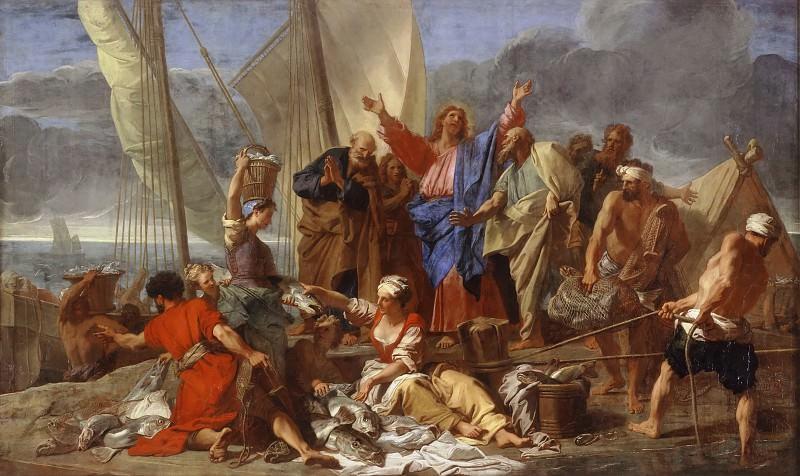 Jean-Baptiste Jouvenet -- Miraculous Draught of Fishes. Part 2 Louvre