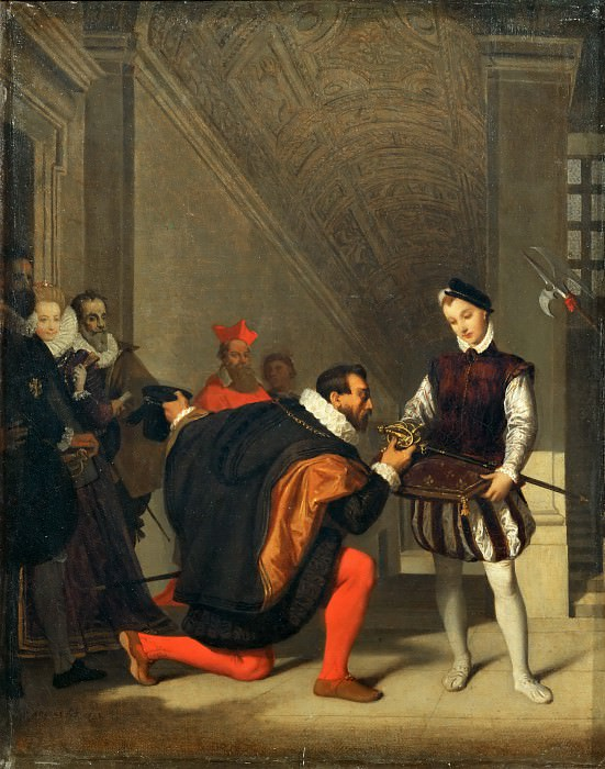 Don Pedro of Toledo Kissing the sword of Henry IV. Jean Auguste Dominique Ingres