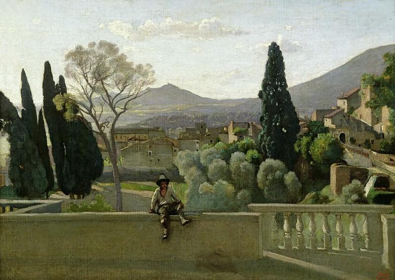 Коро, Жан-Батист-Камиль (Париж 1796-1875) -- Сады виллы д'Эсте. часть 2 Лувр