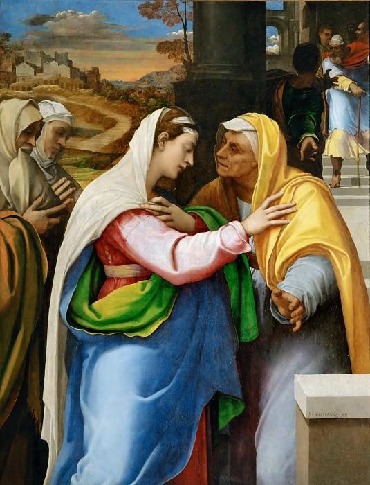 Себастьяно дель Пьомбо (Лучиани) (1485 Венеция - 1547 Рим) -- Встреча Марии и Елизаветы. часть 2 Лувр