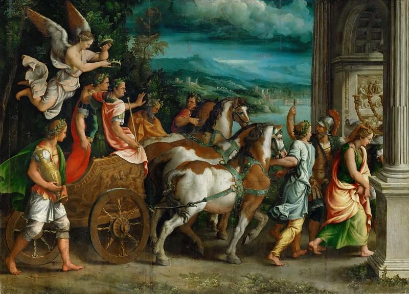 Giulio Romano (1499-1546) -- Triumph of Titus and Vespasian. Part 2 Louvre