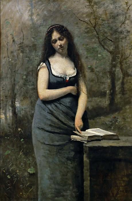Коро, Жан-Батист-Камиль (Париж 1796-1875) -- Веледа, героиня романа Мученики Шатобриана. часть 2 Лувр