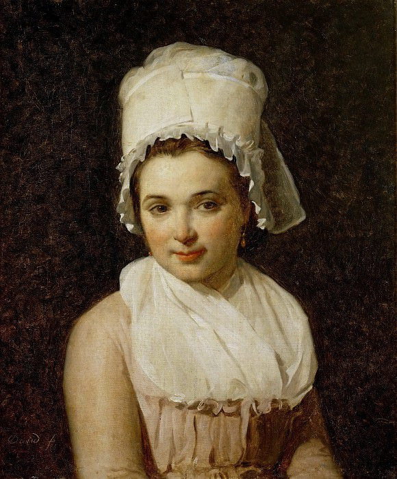 David, Jacques Louis -- Catherine-Marie-Jeanne Tallard (1772-1825), wife of Francois Lamy, mayor of Sougere/Yonne. Painted 1795 Canvas, 64 x 54 cm R.F.1740. Part 2 Louvre