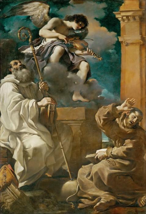 Гверчино (Джованни Франческо Барбьери) (1591 Ченто - 1666 Болонья) -- Экстаз святого Франциска со святым Бенедиктом и ангелом. часть 2 Лувр