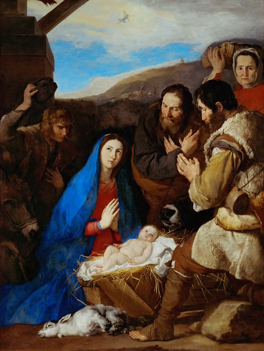 Jusepe de Ribera (1591-1652) -- Adoration of the Shepherds. Part 2 Louvre