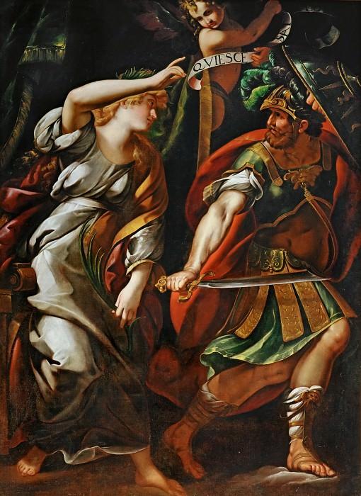 Giulio Cesare Procaccini (1574-1625) -- Peace Driving Away War. Part 2 Louvre