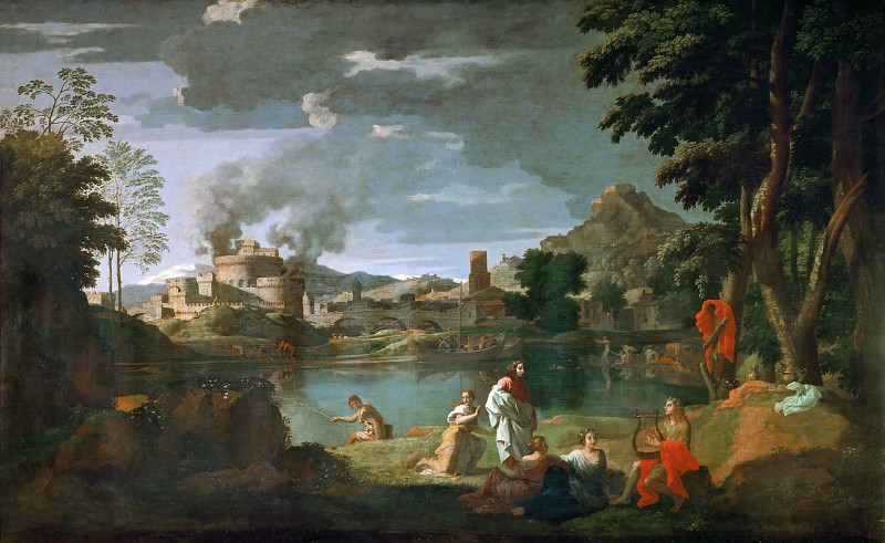 Nicolas Poussin -- Orpheus and Euridice. Part 2 Louvre