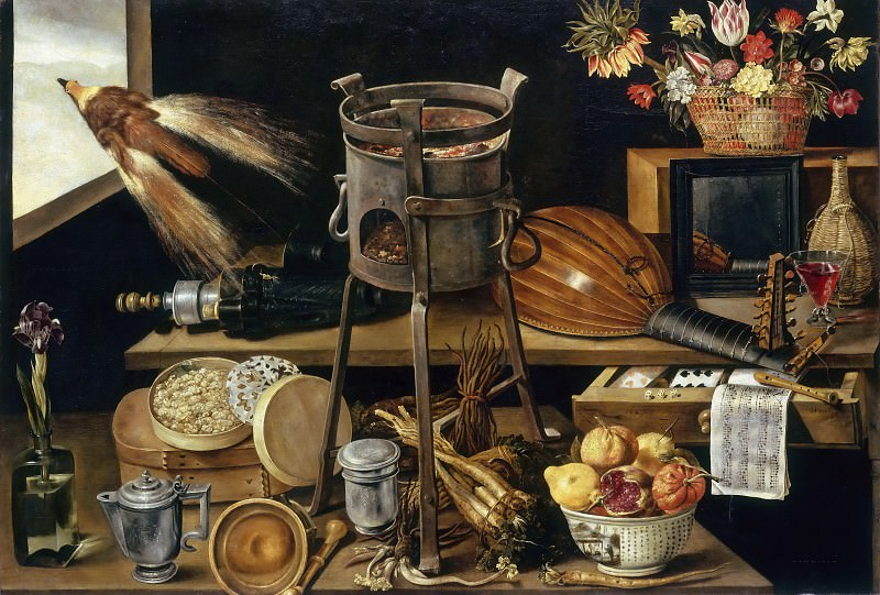 Jacques Linard -- The Five Senses and the Four Elements (with objects from the coat of arms of the Richelieu family). Part 2 Louvre