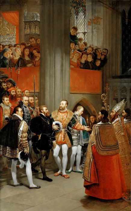 Antoine-Jean Gros (1771-1835) -- Emperor Charles V Received by Francis I at the Abbey of Saint Denis (1540). Part 2 Louvre