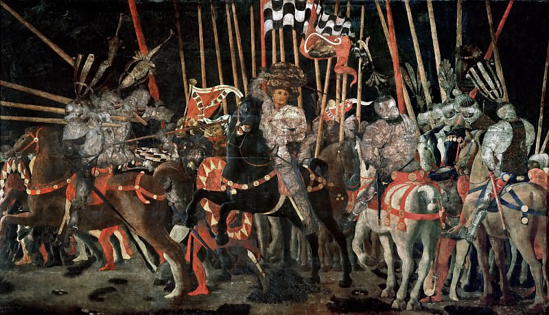 Paolo Uccello -- The Battle of San Romano. Part 2 Louvre