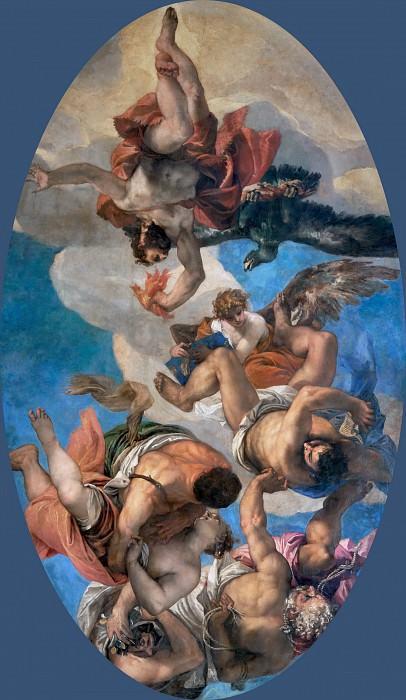 Веронезе (Паоло Кальяри) (Верона 1528 - 1588 Венеция) -- Низвержение Юпитером пороков. часть 2 Лувр