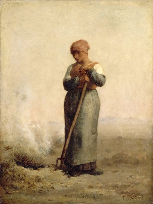 Jean-François Millet -- The Grass Burner. Part 2 Louvre