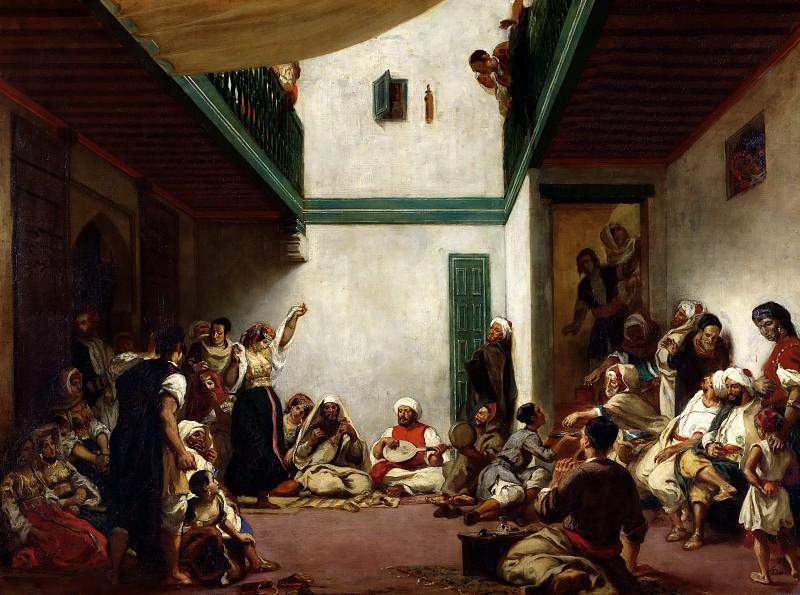 Делакруа, Эжен (1798 Шарантон-Сен-Морис - 1863 Париж) -- Еврейская свадьба в Марокко. Part 2 Louvre