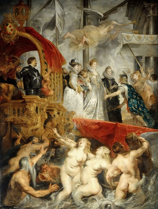 Peter Paul Rubens -- Landing of Marie de Médicis at Marseille, 3 November 1600. Part 2 Louvre