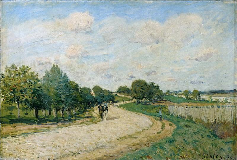 Sisley, Alfred -- La route de Mantes, 1874. Canvas, 38 x 55, 5 cm RF 1961-78. Part 2 Louvre