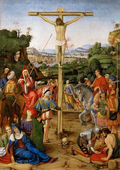 Andrea Solario -- Crucifixion. Part 2 Louvre