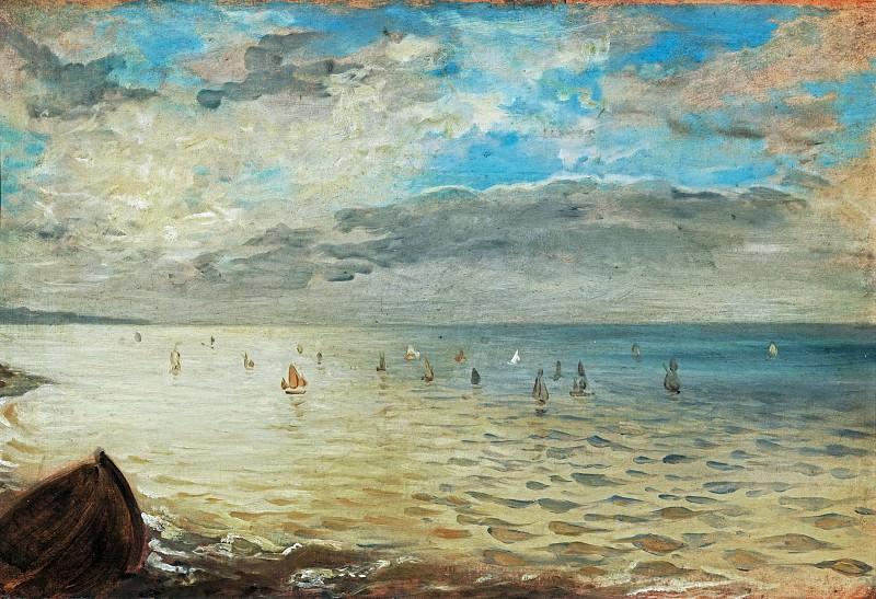 Делакруа, Эжен (1798 Шарантон-Сен-Морис - 1863 Париж) -- Вид на море близ Дьеппа. Part 2 Louvre