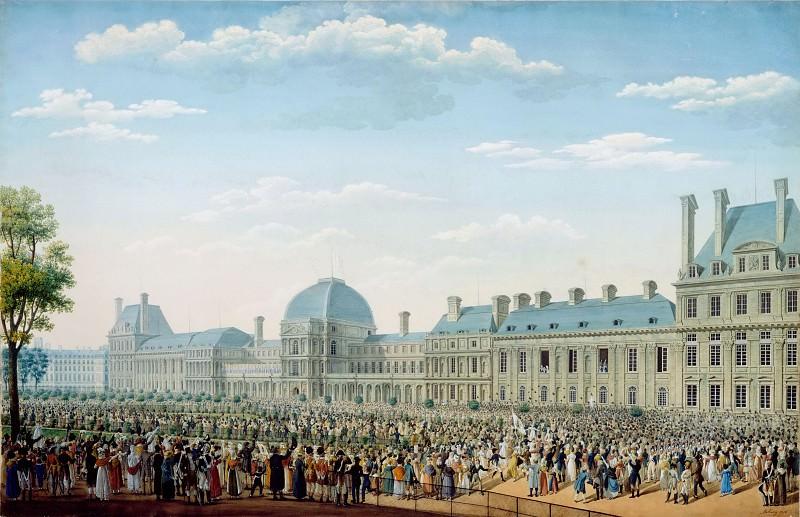 Anton Ignaz Melling -- Tuileries Palace. Part 2 Louvre
