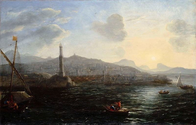 Claude Lorrain -- The port of Genoa, view of the sea. Part 2 Louvre