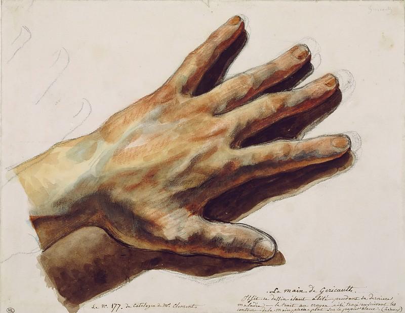 Eugène Delacroix -- Géricault's left hand. Part 2 Louvre