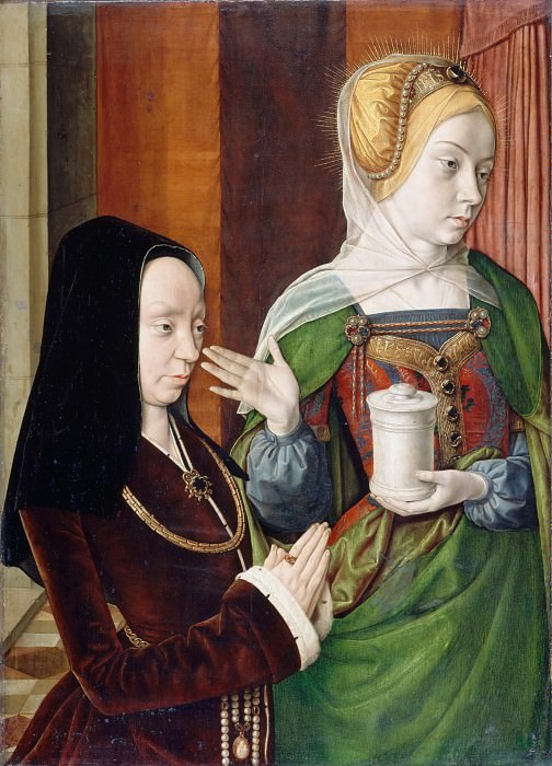 Jean Hey -- Madeleine de Bourgogne Presented by Saint Mary Magdalene. Part 2 Louvre