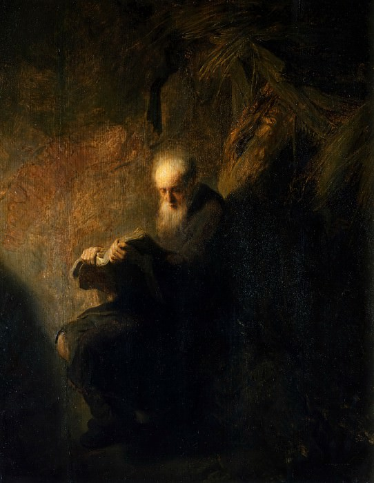 After Rembrandt van Rijn -- Old hermit (the Prophet Isaiah?). Part 2 Louvre