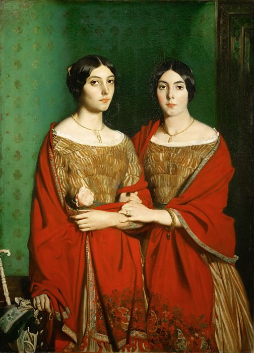 Théodore Chassériau -- The Painter's Two Sisters Adele and Genevieve Chassériau. Part 2 Louvre