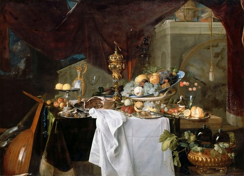 Jan Davidsz. de Heem -- A Table of Dessert. Part 2 Louvre