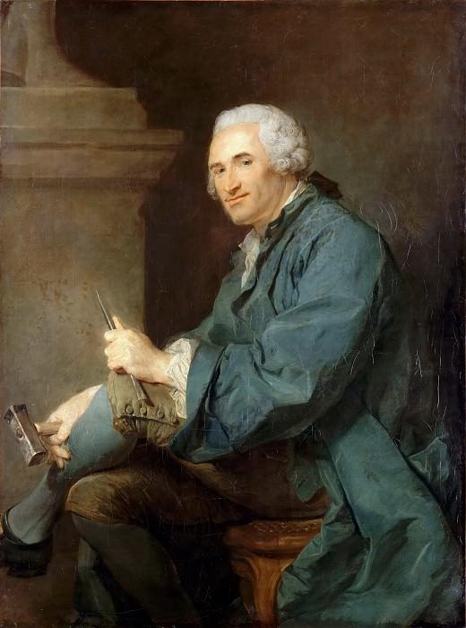 Jean-Baptiste Perronneau -- Lambert-Sigisbert Adam the elder. Part 2 Louvre